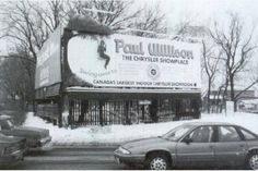 The so-called girl-on-a-swing billboard in Scarborough is well remembered from the for its creative promotion of a Chrysler dealership. 2019 the sign still remains. Toronto Ontario Canada, Toronto City, Canadian History, Local History, Scarborough Toronto, Sign Company, North York, Advertising Signs, Landscape Photos