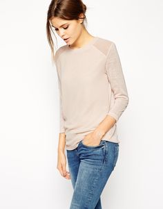 Image 1 ofASOS Top with Woven Front