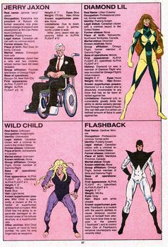 The Official Handbook to the Marvel Universe - REDUX Edition: OMEGA FLIGHT by Elijah Brubaker