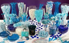 royal blue and white candy table - Google Search