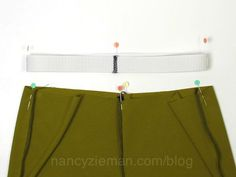 The absolute easiest way to attach waist elastic and avoid the bulk by Nancy Zieman