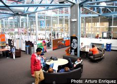 How High Tech High's architecture influences education. High Tech High, 21st Century Schools, Future School, Blow Off, High Schools, Media Center, School Design, Thesis, Design Ideas