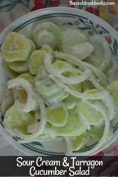 Simple Sour Cream Cucumbers Recipe - These Old Cookbooks