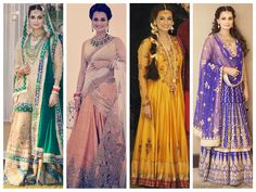 Dia Mirza's wedding looks - bollywood celebrity weddings 2014