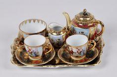 Royal Vienna Porcelain —   Tea set with tray  (3500×2333)