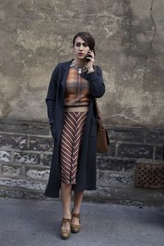 On the Street…Mixed Patterns, Paris « The Sartorialist