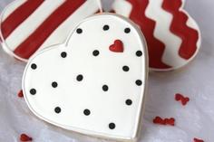 Simple Polka Dot Heart Cookies