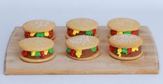 Cheeseburger Ice Cream Sandwiches!