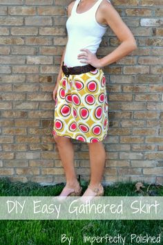 DIY Easy Skirt Tutorial- i am in need badly of a sewing machine and material over here.