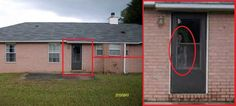 Ghostly figure found on real estate listing photo