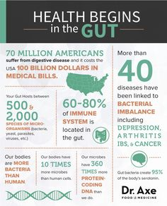 Health Begins in the Gut Infographic http://www.draxe.com #health #holistic #natural