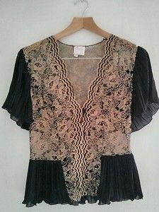 Vintage 1980S Black and Gold Top Size UK 12   eBay