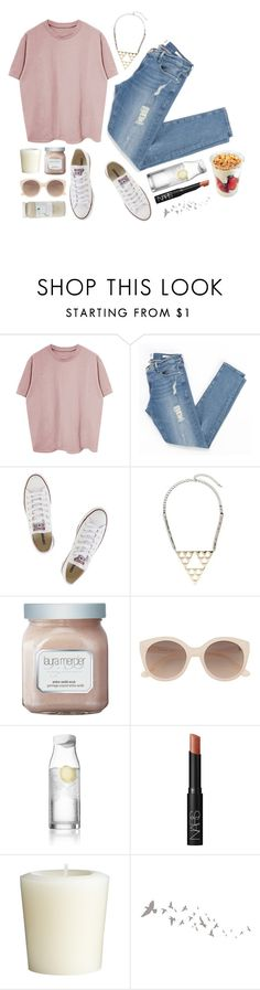"""Untitled #1723"" by katerina-rampota ❤ liked on Polyvore featuring Frame Denim, Converse, Topshop, Laura Mercier, Witchery, Menu, NARS Cosmetics, Pier 1 Imports and 100% Pure"