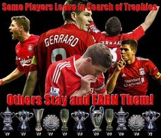 """Steven Gerrard : """"A lot of people talk about my loyalty to Liverpool but what rarely gets mentioned is Liverpool's loyalty to me"""". 