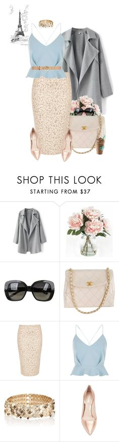 """Untitled #1289"" by livirose ❤ liked on Polyvore featuring Home Decorators Collection, Bottega Veneta, Chanel, River Island, Lanvin, Nicholas Kirkwood and Gucci"