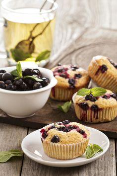 Herbal Tea & Blueberry muffin