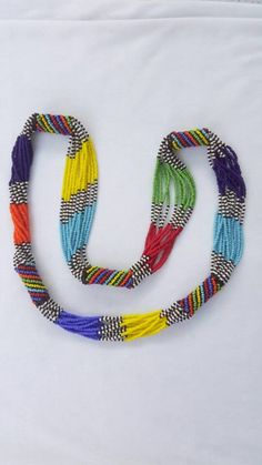 Excited to share the latest addition to my shop: Multi-strands Zulu beaded… Excited to share the latest addition to my shop: Multi-strands Zulu beaded necklace. Zulu, Hanging Jewelry Organizer, Jewelry Organization, Bead Jewellery, Beaded Jewelry, Beaded Necklaces, Chunky Necklaces, Jewellery Sale, Prom Jewelry
