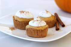 Grain-free Mini Pumpkin Pie Tarts (Gluten-free, Vegan + Refined Sugar-free) by Tasty Yummies, via Flickr