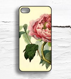 iPhone Vintage Peony Flower Case
