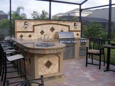 Rustic outdoor kitchen designs