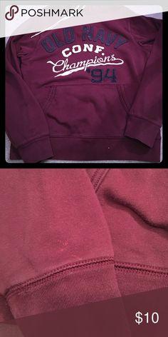 Old Navy Sweatshirt Men's maroon sweatshirt - small spot on the wrist (as seen in pics). Old Navy Shirts Sweatshirts & Hoodies