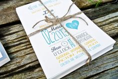 Wedding Invitation Rustic Modern Yellow teal and by WideEyesDesign, $2.00