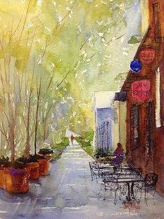 Still Waiting by Judy Mudd Watercolor ~ 12 x 9