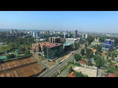 Nairobi Aerial View from Upperhill - 4k Footage