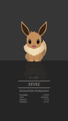 Eevee by Thong Le Pokemon Eeveelutions, Pokemon Pokedex, Eevee Evolutions, Pokemon Pins, All Pokemon, Cute Pokemon, Pokemon Stuff, Eevee Wallpaper, Pokemon Pictures