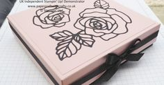 Big and Sturdy Gift Box. Rose Garden Thinlits. Video tutorial included.  A Blog by Linda Parker, UK Independent Stampin' Up! Demonstrator based near Southampton in Hampshire. Papercrafter at Papercraft With Crafty.