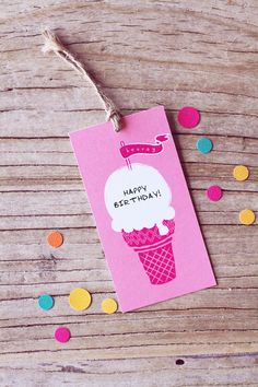 Free Ice Cream Gift Tags « Spearmint Baby
