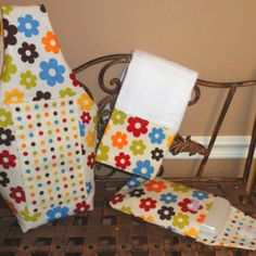Coordinating diaper bag, burp cloth, and wipey case. Handmade by Tracy.