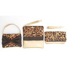 Toddler purse animal print cheetah black bow by babymamasewshop