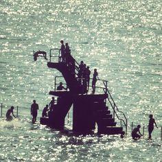 Saint Malo swimming pool at sea - Bretagne - France