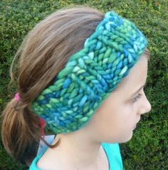 Loops by Keri - Hand Knit Smooshy Headband and Ear warmer Ready to Ship All by LoopsbyKeri