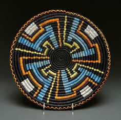 Coiled Plaque by Angelina Holiday (Navajo)