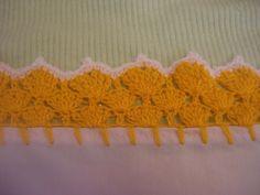 Orilla tejida Amarilla # 12 Servilletas