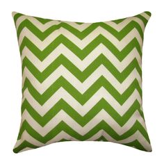 Green Chevron Throw Pillow Premier Prints Zig by Landofpillows