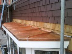 I'd love a nice window seat in a bay window with the copper roofing. Copper Roof, Bay Windows, Stairs, Nice, Gallery, House, Home Decor, Copper Ceiling, Stairway