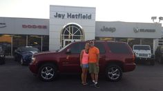 Awesome! Congratulations to Tracy on your new 2010 Chevrolet Tahoe!  Thank you again, Jay Hatfield CDJR and MATTHEW BUTLER.