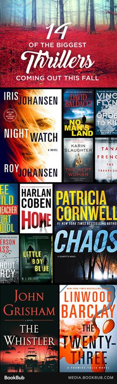 14 thrillers to read this fall, including books from Harlan Coben, Tana French, and James Patterson.