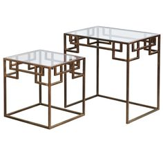 Pier 1 Greek Key Nested Tables (It would be fun to try doing these in a more Chinese style)