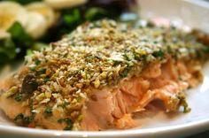 ricetta salmone e pistacchio
