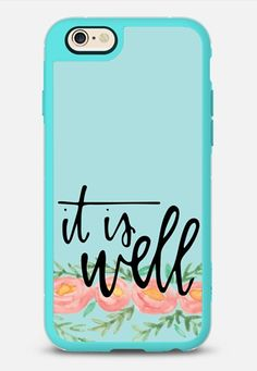 It is Well iPhone 6s case in Teal & Clear by @angelacdavidson   @casetify