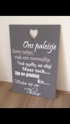 Ons paleisje Silhouette Cameo, Letter Board, Best Quotes, Diy And Crafts, Homemade, Words, Dutch, Wall, Fun