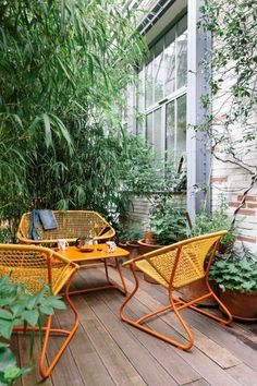Bright colorful patio furniture for a modern outdoor living space