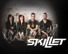 Skillet band photo with signatures! XD