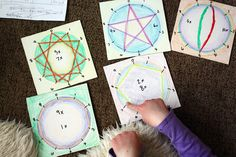 Waldorf stars for multiplication -  There's a link to a video that explains them. Genius for recognizing the patterns in the multiplication tables.