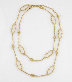 JUDITH RIPKA 18KT YELLOW GOLD DIAMOND CHELSEA LINKS NECKLACE #JudithRipka #Chain