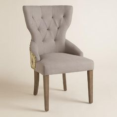 One of my favorite discoveries at WorldMarket.com: Green Daltrey Geo and Linen Maxine Dining Chair